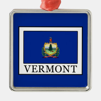 Vermont Zilverkleurig Vierkant Ornament