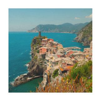 Vernazza Cinque Terre Italië Hout Afdruk