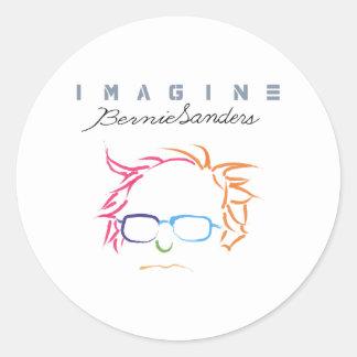 Veronderstel Bernie Sanders Ronde Sticker