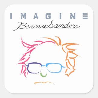 Veronderstel Bernie Sanders Vierkante Sticker
