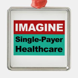 Veronderstel de Enige Gezondheidszorg van de Zilverkleurig Vierkant Ornament