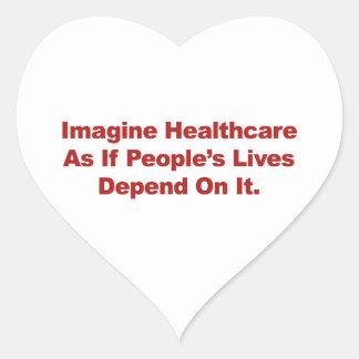 Veronderstel het Leven van de Mensen van de Hart Sticker