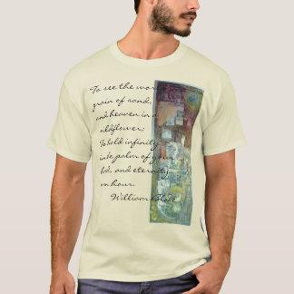 Veronderstel. Met de hand geschilderde monoprint T Shirt