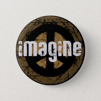 Veronderstel vrede ronde button 5,7 cm