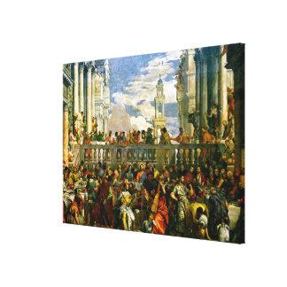 Veronese - het Huwelijk in Cana Canvas Afdrukken