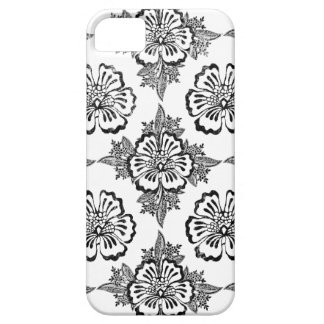 Verontrust de bloempatroon van de damast bloemenhi barely there iPhone 5 hoesje