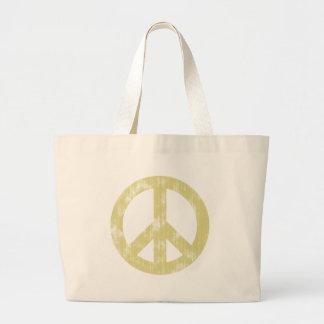 Verontrust het tekenlicht van de vrede draagtassen