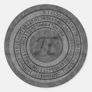 Verontrust Pi aan 125 Ronde Sticker