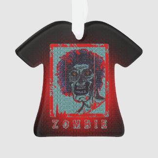Verontrust zombie-rood & Blauw Ornament