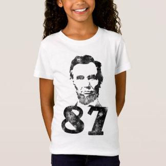 Verontruste Abe 87 het Baby van Meisjes - het T Shirt