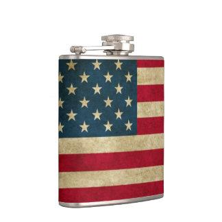 Verontruste Amerikaanse Vlag Grunge Heupfles