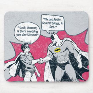 Verontruste Batman en Robin Handshake Muismatten