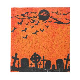 Verontruste Begraafplaats - de Oranje Zwarte Druk Notitieblok