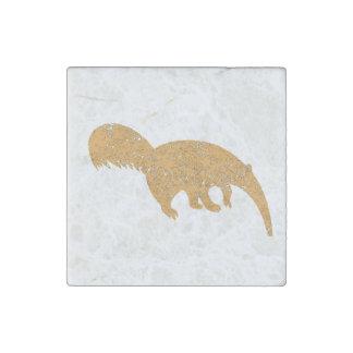 Verontruste Bruine Miereneter Stenen Magneetje
