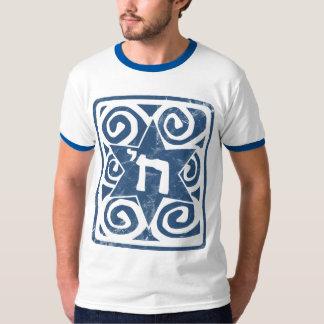 Verontruste en Geweven Jodenster met Chai T Shirt