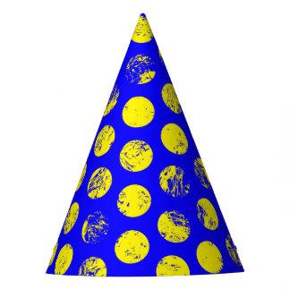 Verontruste Gele Vlekken op Blauw Feesthoedjes