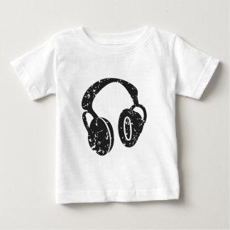 Verontruste Hoofdtelefoons Baby T Shirts