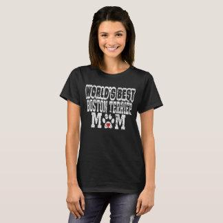 Verontruste Mamma van Boston Terrier van de wereld T Shirt