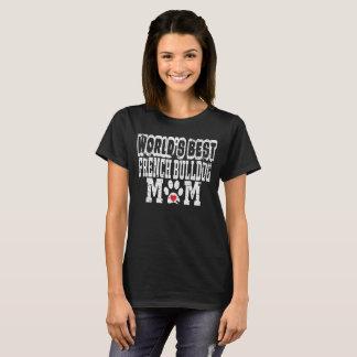 Verontruste Mamma van de Buldog van de wereld het T Shirt