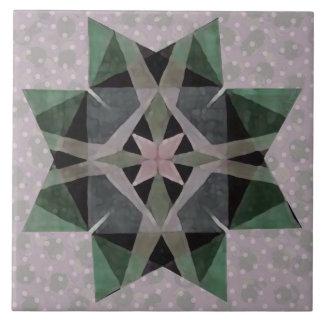 Verontruste Perzische Ster 3 van Kaleidescopic van Keramisch Tegeltje