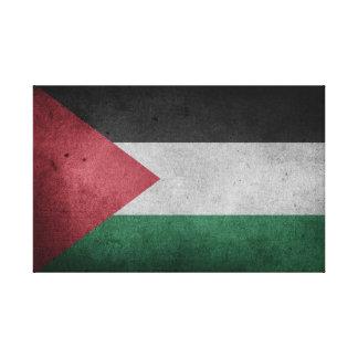 Verontruste Vlag van Palestina Canvas Print