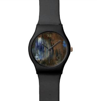 verouderde & verontruste textuur horloge