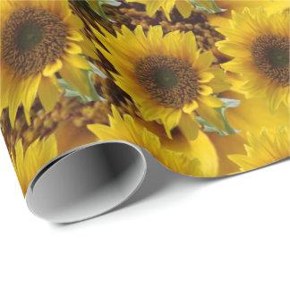 Verpakkend de zonnebloemdocument van de steen inpakpapier