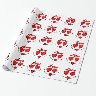Verpakkende Document van de Valentijnsdag van het Cadeaupapier