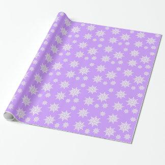 Verpakkende Document van Kerstmis van paarse Inpakpapier