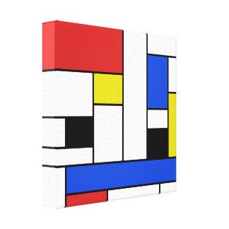 """Verpakt Canvas 12 van Mondrian Lijnen"""" X12 """""""