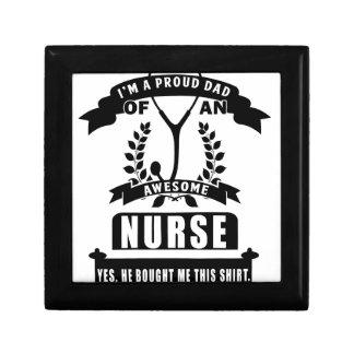 verpleegster en papa decoratiedoosje