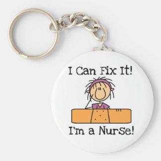 Verpleegster kan ik het bevestigen T-shirts en Gif Basic Ronde Button Sleutelhanger