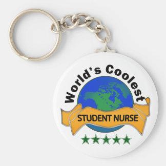 Verpleegster van de Student van de wereld de Koels Basic Ronde Button Sleutelhanger