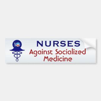 Verpleegsters tegen Gesocialiseerde Geneeskunde Bumpersticker