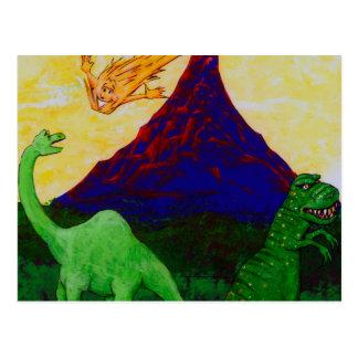 Verraste Dinosaurussen Briefkaart