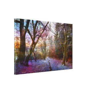 Verrukt Bos - het Landschap van de Winter van de Canvas Afdrukken