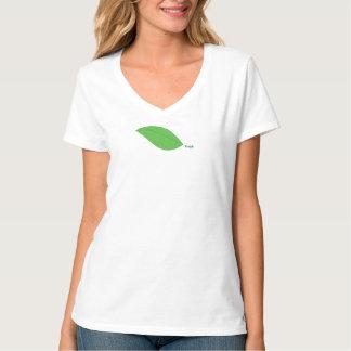 Vers Groen de v-Hals van het Blad T-shirt