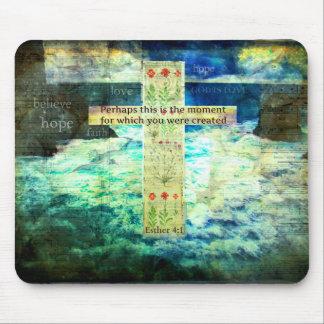 Vers van de Bijbel van Uplifting het Inspirerend Muismat