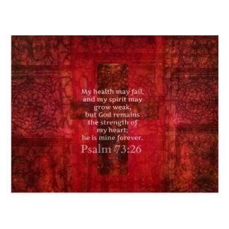 Vers van de het 73:26 het Inspirerend BIJBEL van Briefkaart