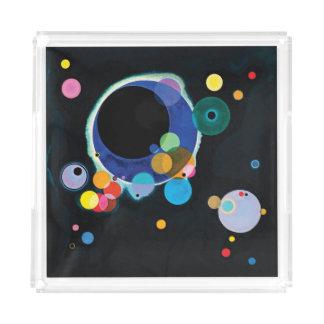 Verscheidene Cirkels door Wassily Kandinsky Acryl Dienblad