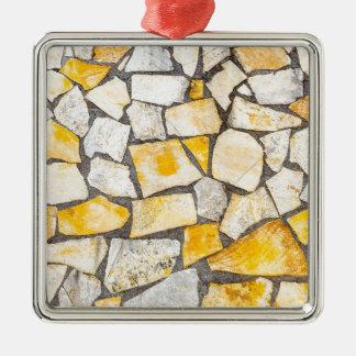 Verscheidenheid van stenenmetselwerk of metselwerk zilverkleurig vierkant ornament