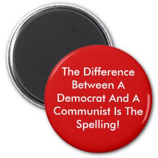 Verschil tussen een Democraat en een Communist Magneet