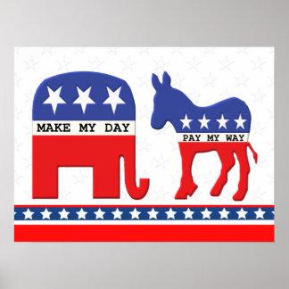Verschil tussen Grappige Republikeinen en Poster