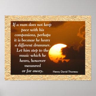 Verschillende Slagwerker - Thoreau citaatposter Poster