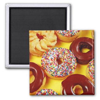Verse smakelijke donutsmagneet magneet