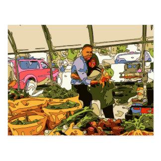 Verse Veggies bij de Markt van Landbouwers Briefkaart