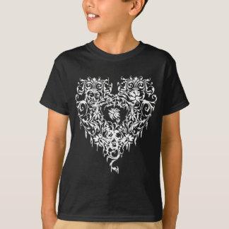 Versierd Gotisch Hart T Shirt