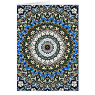 Versierd Kleurrijke Mandala Kaart