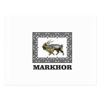 Versierd lijst Markhor Briefkaart