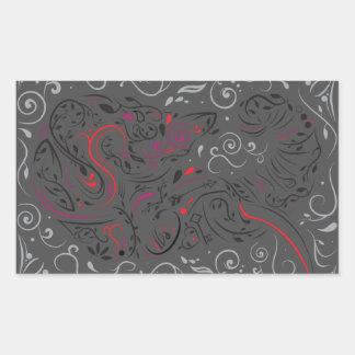 versierd olifant rechthoekige sticker